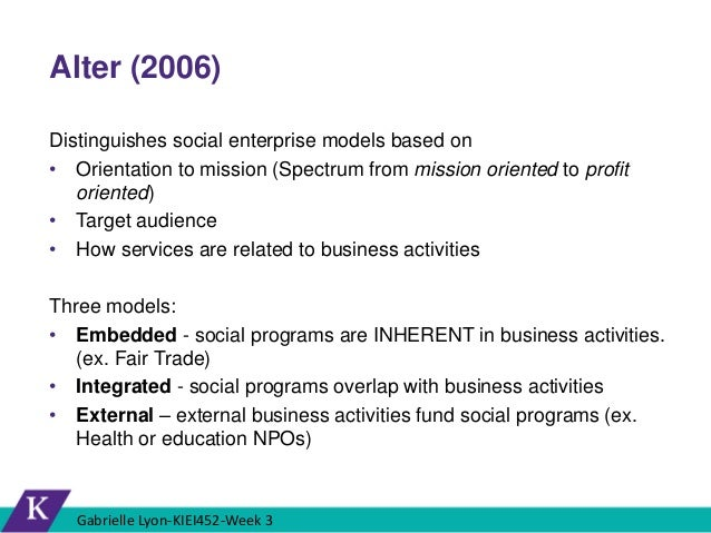 """What Is """"Social"""" In Social Entrepreneurship?"""