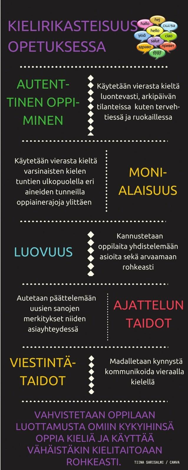 Kielirikasteisuus opetuksessa
