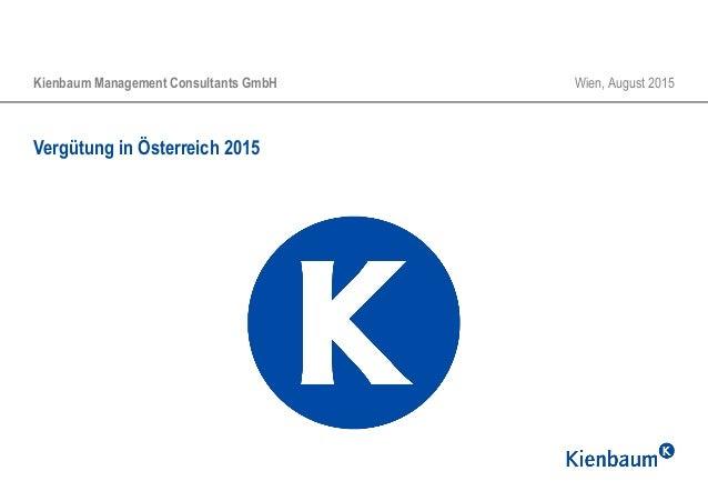 Vergütung in Österreich 2015 Kienbaum Management Consultants GmbH Wien, August 2015