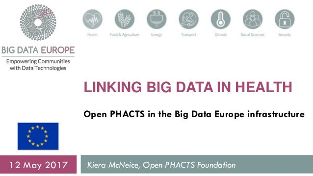 LINKING BIG DATA IN HEALTH Open PHACTS in the Big Data Europe infrastructure Kiera McNeice, Open PHACTS Foundation12 May 2...
