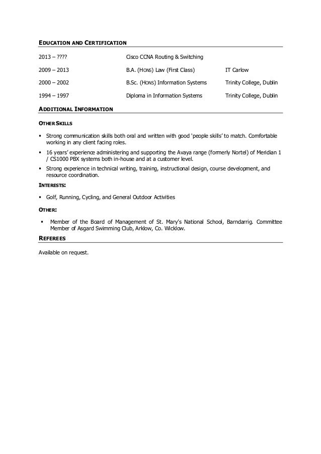 Kieran Ryan Cv Business Development Executive PreSales Engineer