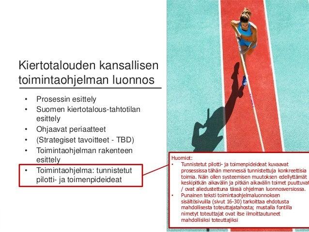 15Sitra • Etunimi Sukunimi • 0.0.2016 • Kiertotalouden kansallisen toimintaohjelman luonnos • Prosessin esittely • Suomen ...