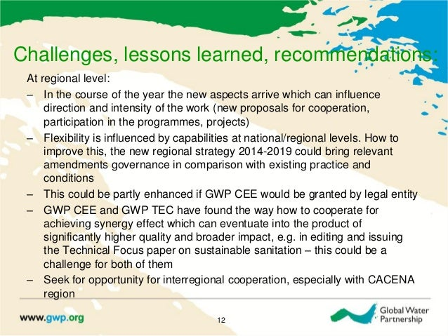 Challenges, lessons learned, recommendations:At regional level:‒ In the course of the year the new aspects arrive which ca...