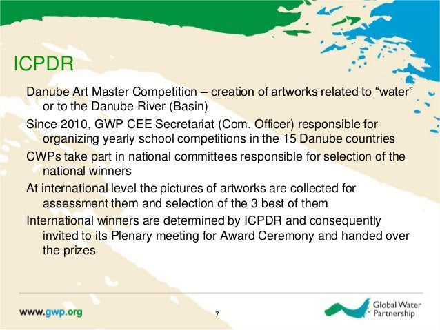 """ICPDRDanube Art Master Competition – creation of artworks related to """"water""""or to the Danube River (Basin)Since 2010, GWP ..."""