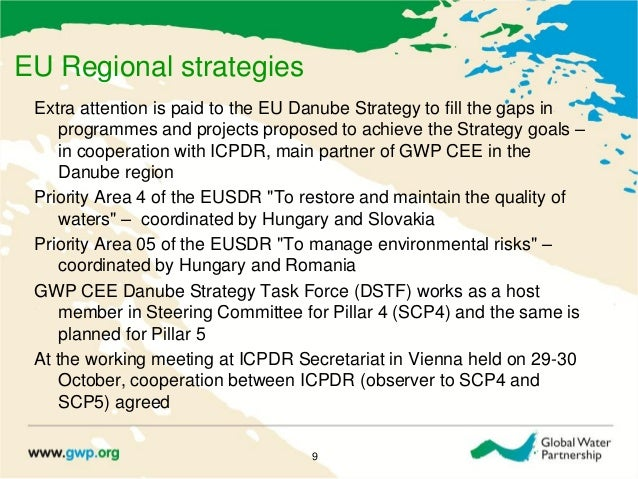 EU Regional strategiesExtra attention is paid to the EU Danube Strategy to fill the gaps inprogrammes and projects propose...