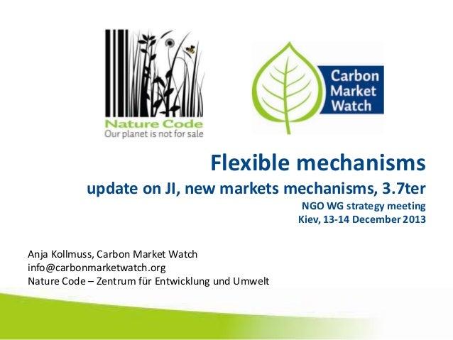 Flexible mechanisms update on JI, new markets mechanisms, 3.7ter NGO WG strategy meeting Kiev, 13-14 December 2013  Anja K...