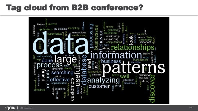 19JDD conference Tag cloud from B2B conference?