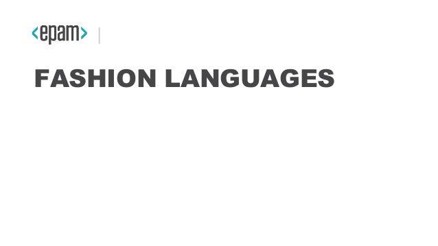 FASHION LANGUAGES