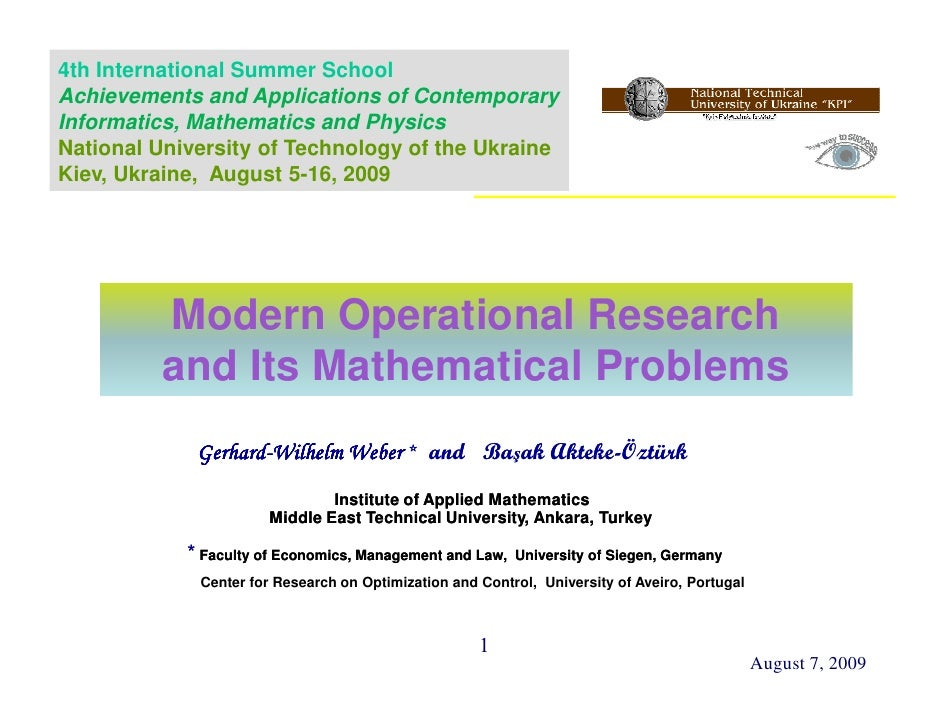 4th International Summer School Achievements and Applications of Contemporary Informatics, Mathematics and Physics Nationa...