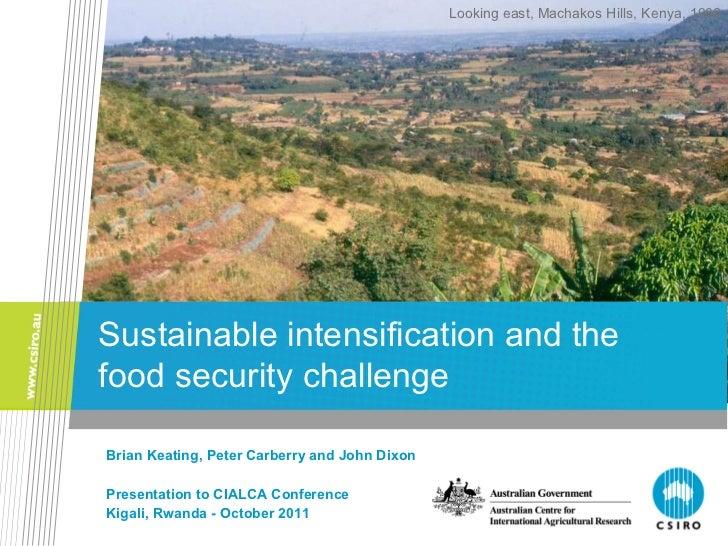 Brian Keating, Peter Carberry and John Dixon Presentation to CIALCA Conference Kigali, Rwanda - October 2011 Sustainable i...