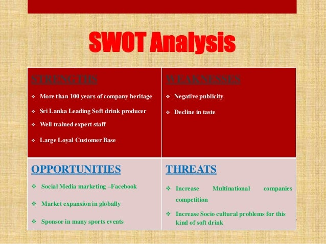 swot elephant house What is a swot analysis it is a way of evaluating the strengths, weaknesses, opportunities, and threats that affect something see wikiwealth's swot tutorial for help remember, vote up the most important comments.