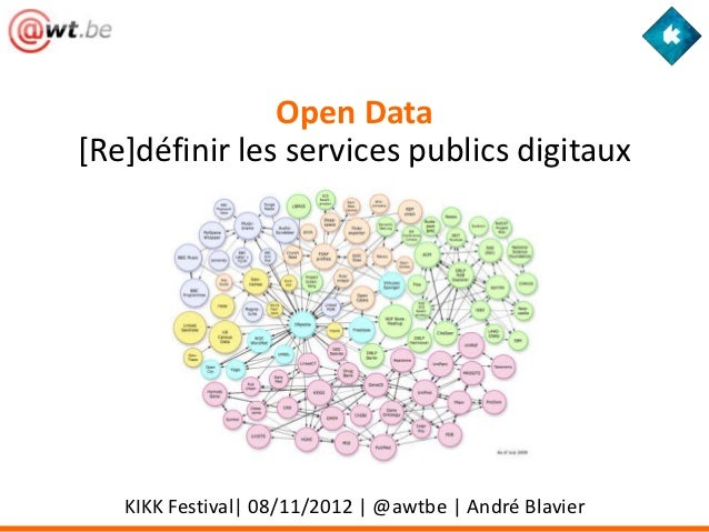 Open Data[Re]définir les services publics digitaux   KIKK Festival| 08/11/2012 | @awtbe | André Blavier