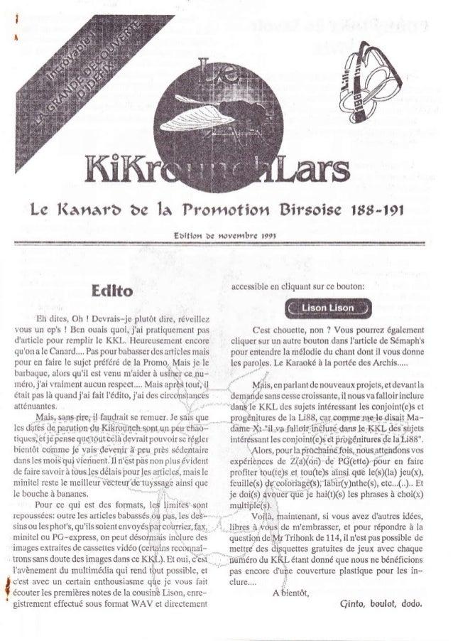 l-c l(anarb be la Promotion Birsoise 188-l9l                                                    Ebition te t*aer.bre 199, ...