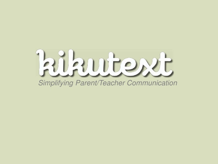 Simplifying Parent/Teacher Communication