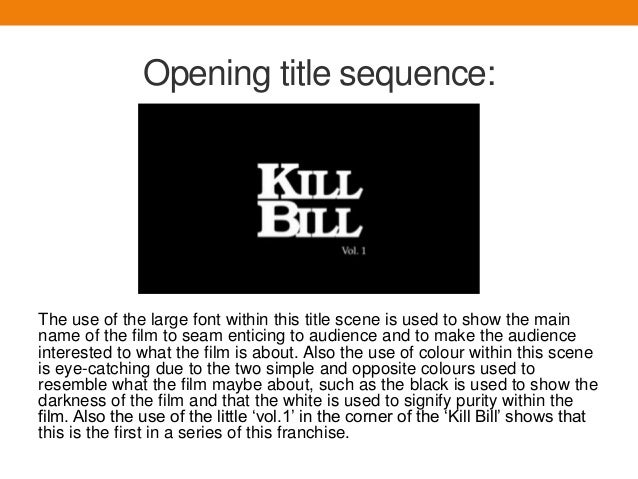 mise en sense kill bill Very much of its time, 'these are the damned successfully projects a combination of local and global existentialist angst, even if some of the 'mise en scene' is dated now.