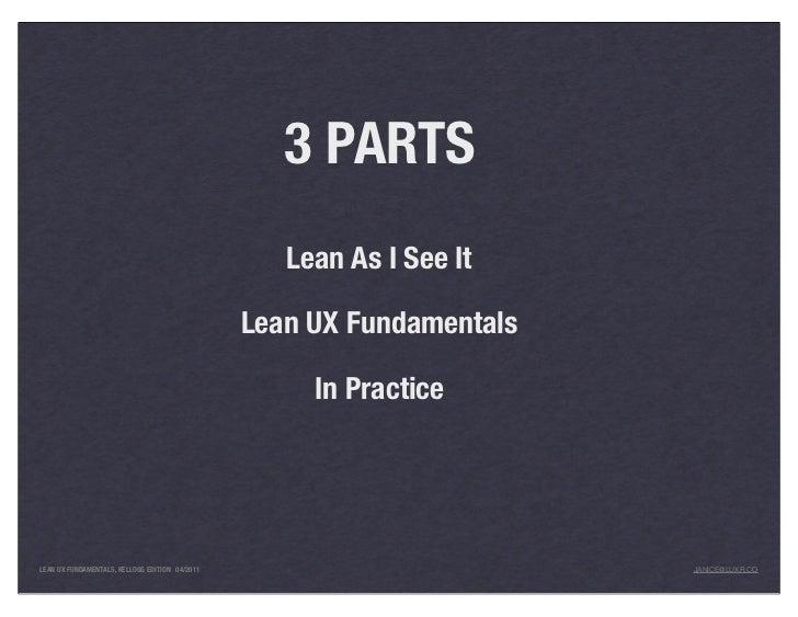 UX & Lean Startups (For Entrepreneurs, Kellogg edition) Slide 3