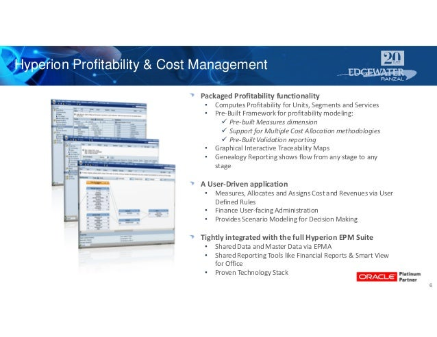 Packaged Profitability functionality • Computes Profitability for Units, Segments and Services • Pre-Built Framework for p...