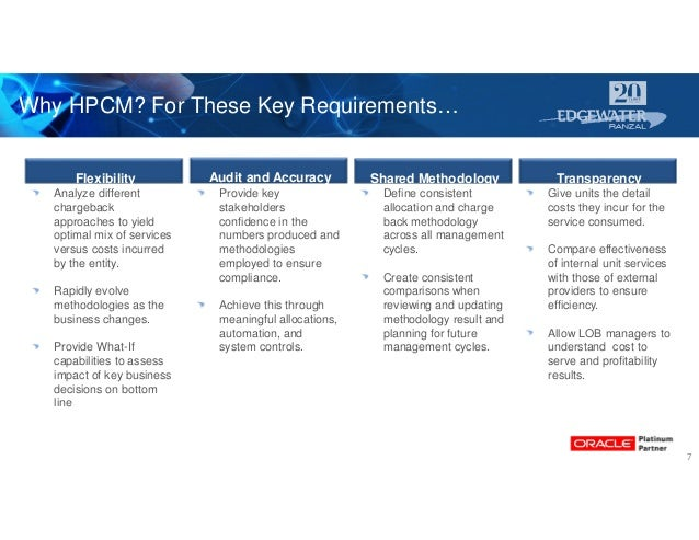Audit and Accuracy Shared Methodology Transparency 7 Flexibility Why HPCM? For These Key Requirements… Analyze different c...