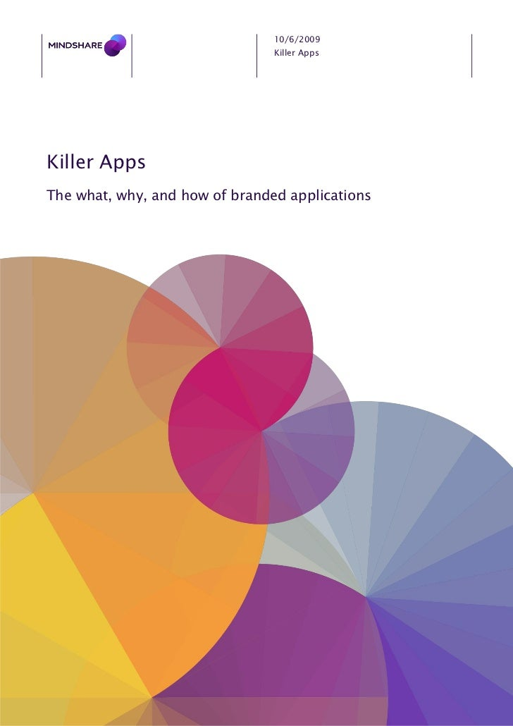 10/6/2009                                 Killer Apps     Killer Apps The what, why, and how of branded applications