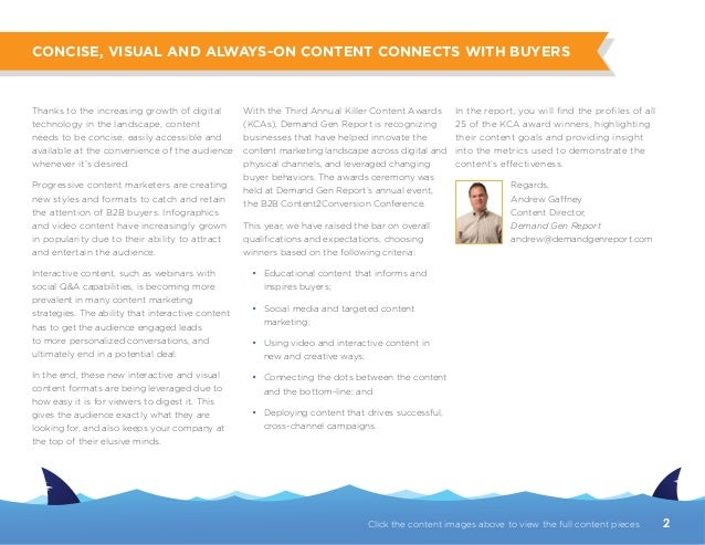 2014 Killer Content Awards Report Slide 2