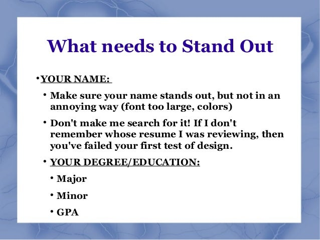 resume names that stand out