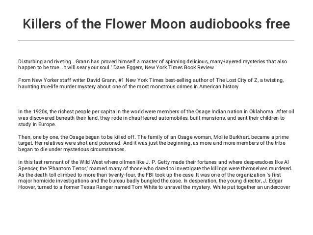 Killers of the Flower Moon audiobooks free
