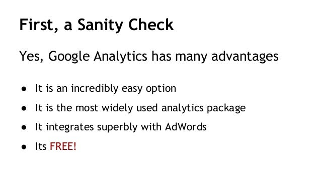 Delete Google Analytics - a Crazy Idea you MUST consider Slide 2