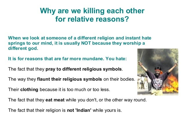 Reasons for not killing other people