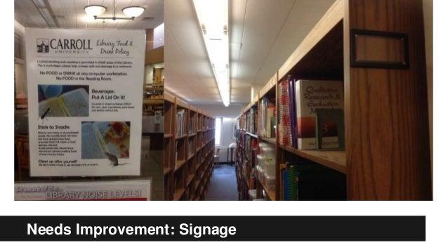Needs Improvement: Signage