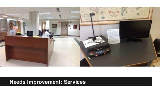 Needs Improvement: Services