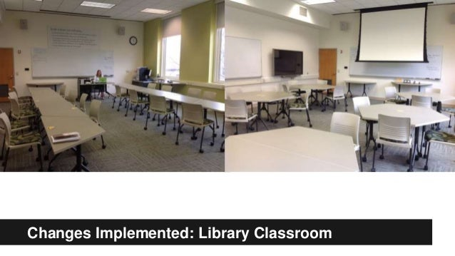 Changes Implemented: Library Classroom Changes Implemented