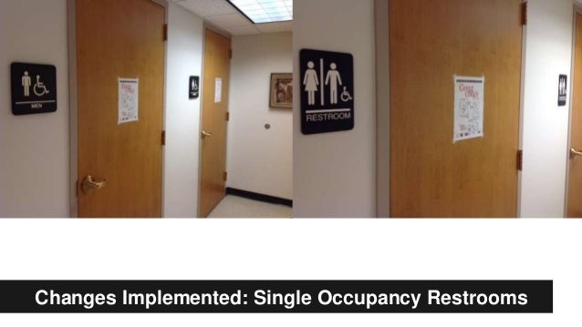Changes Implemented: Single Occupancy Restrooms