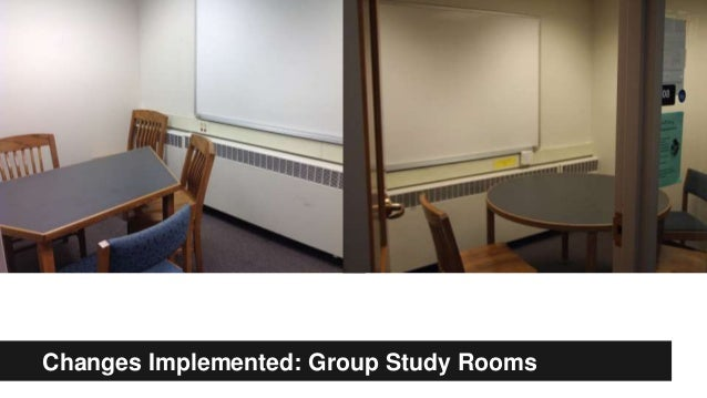 Changes Implemented: Group Study Rooms