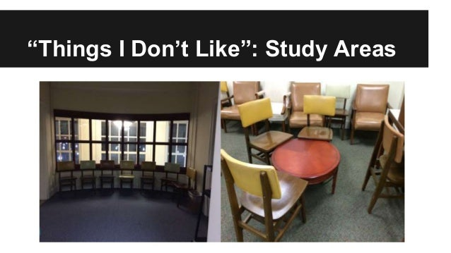 """""""Things I Don't Like"""": Study Areas"""