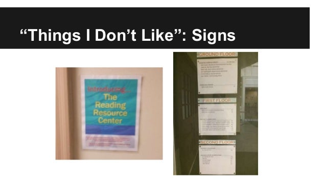 """""""Things I Don't Like"""": Signs"""