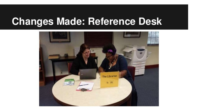 Changes Made: Reference Desk