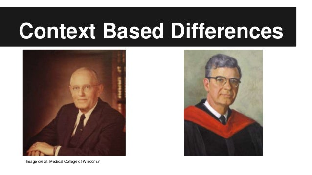 Context Based Differences Image credit: Medical College of Wisconsin