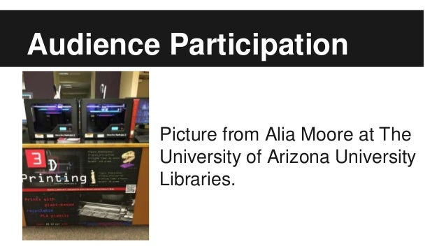 Audience Participation Picture from Alia Moore at The University of Arizona University Libraries.