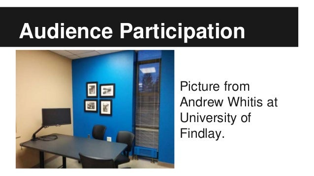 Audience Participation Picture from Andrew Whitis at University of Findlay.