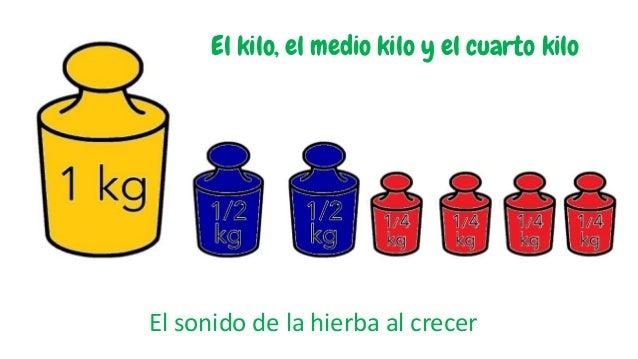 El sonido de la hierba al crecer El kilo, el medio kilo y el cuarto kilo