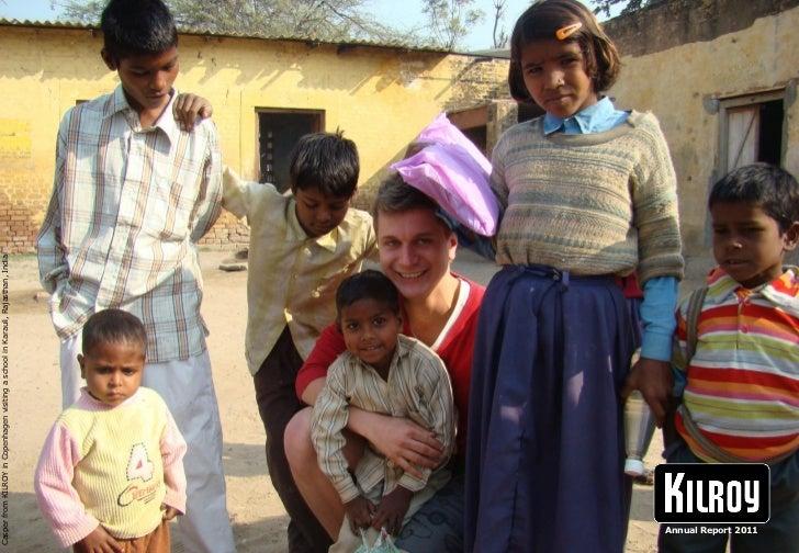 Casper from KILROY in Copenhagen visiting a school in Karauli, Rajasthan, India  Annual Report 2011