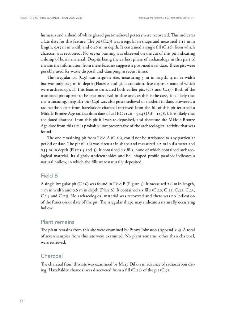 Archaeological Report Kilshanny 2 Co Cork Ireland