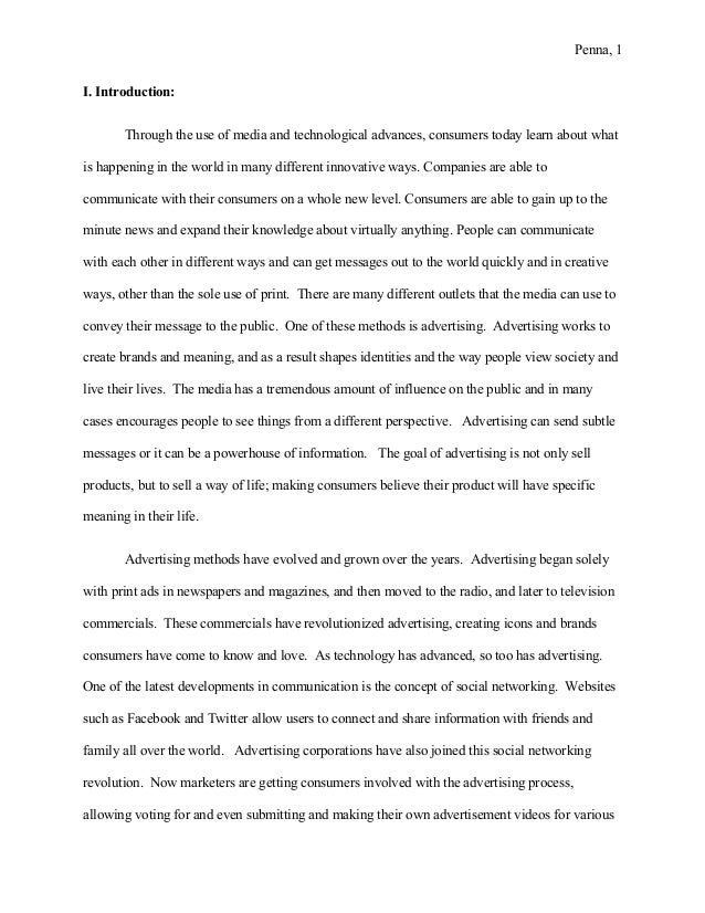 advertising essay introduction