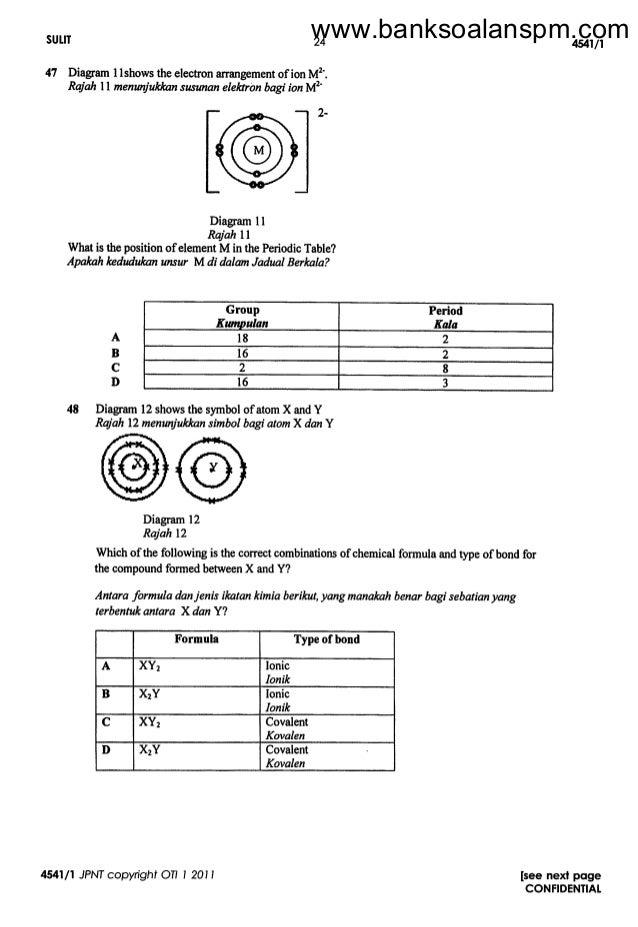 Contoh Soalan Dan Jawapan Kimia Kertas 2 Tingkatan 4 T Soalan