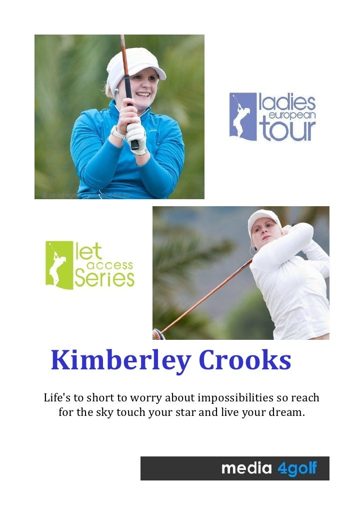 Kimberley CrooksLifes to short to worry about impossibilities so reach   for the sky touch your star and live your dream.