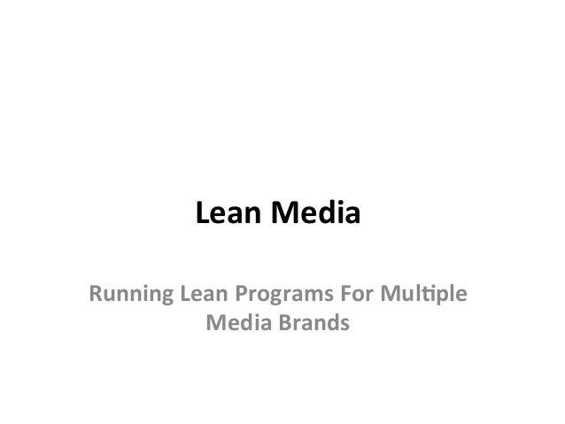 LeanMedia RunningLeanProgramsForMul3ple MediaBrands