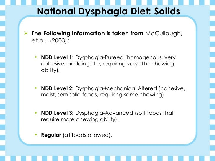 national dysphagia diet level 2 recipes
