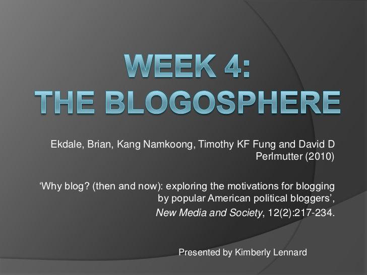 "Ekdale, Brian, Kang Namkoong, Timothy KF Fung and David D                                           Perlmutter (2010)""Why ..."