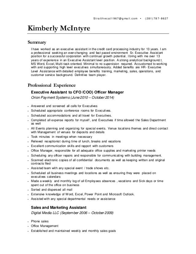 contract senior level executive  personal assistant