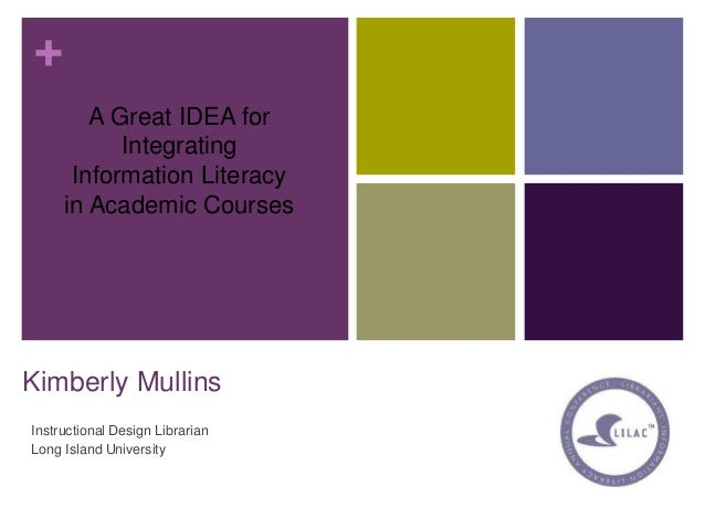 + Kimberly Mullins Instructional Design Librarian Long Island University A Great IDEA for Integrating Information Literacy...